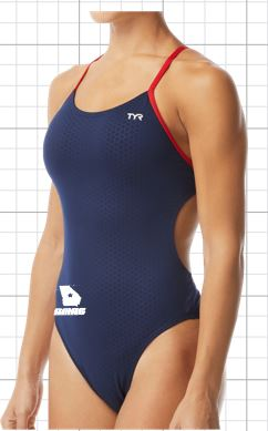 Swim Macon  Female Hexa Cutoutfit logoed THUMBNAIL