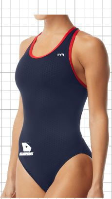 Swim Macon  Female Hexa Maxfit logoed THUMBNAIL