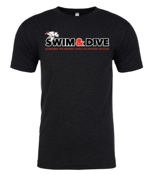 Swim & Dive Tri blend Men's s Tee LARGE