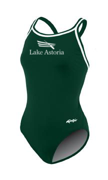 Lake Astoria Female Suit + logo