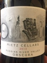 Mietz Cellars Obscura 2015 - Russian River THUMBNAIL