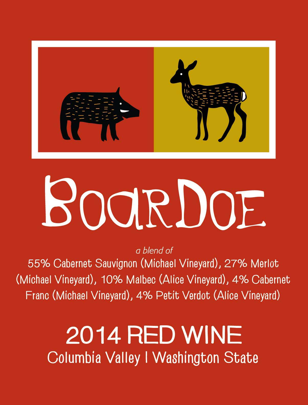 "2014 Tagaris Winery ""Boar Doe"" Columbia Valley Bordeaux Red Blend"