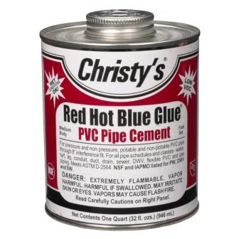 Cristy's Red Hot Blue Glue for Flexible PVC Pipe Cement for Water Garden & Pond Use
