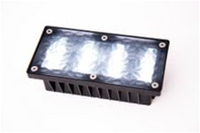 4 inch x 8 inch Solar Brick Paver Landscape Lights for Walks, Patios, Driveways & Pool Decks