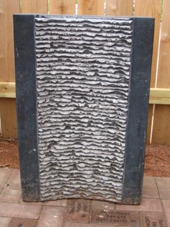 Aquascape Grooved Natural Black Stone Water Fountain For