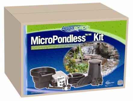 Clearance aquascape pondless waterfall construction for Water pond kits