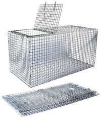 "Collapsible Fish Live Box - Galvanized Steel Mesh (38"" x 18"" x 18"") Folds Flat"