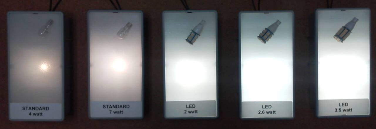 NEW:12 Volt AC/DC Dauer T5 Wedge Warm LED w/ 2 Large SMD Flat Chip ...