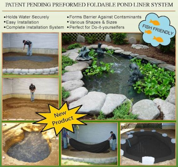 Water garden pond products preformed ponds rigid for Ornamental pond waterfall