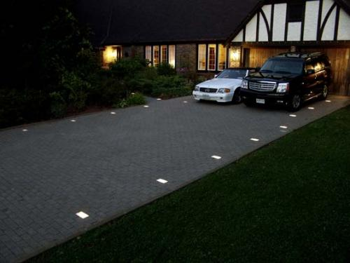 Kerr lighting casino paver light 4 1 2 x 7 for walk for How to install driveway lights