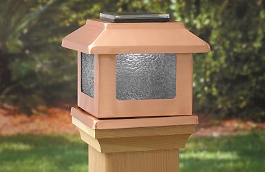 Convertible Solar Led Light 4 Quot X 4 Quot Solid Copper Square
