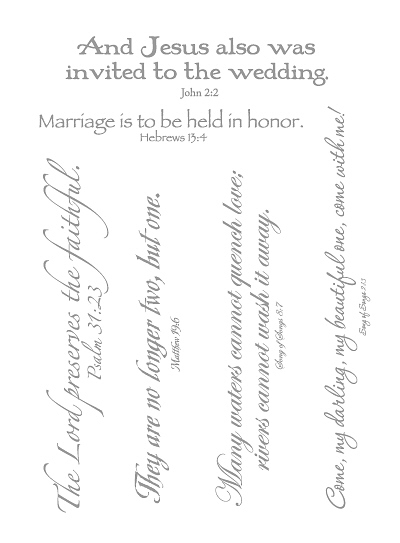 Lifelines Scripture Stickers - MARRIAGE