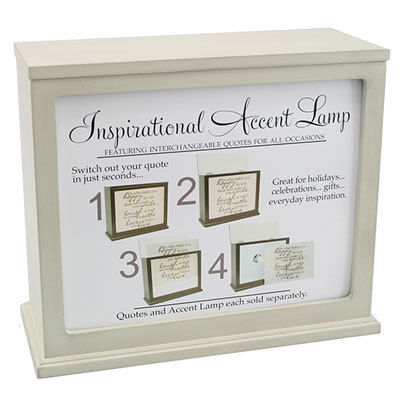Inspirational Accent Lamp & Light Box (WICKER) - Insert Sold Separately