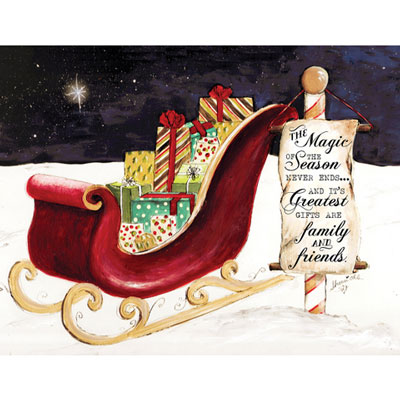 Light Box Insert  - Sleigh