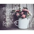 Light Box Insert - Flowers - Memories and Love Tie Our Hearts Together