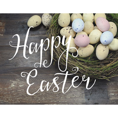 Light Box Insert - Easter Eggs - Happy Easter