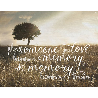 Light Box Insert - Tree - When Someone You Love…Bereavement Insert
