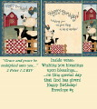 Birthday Bookmark Card - Farm Animals