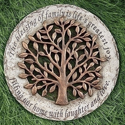 "12"" Tree Stepping Stone - The Blessing of Family is Life's Greatest Joy"