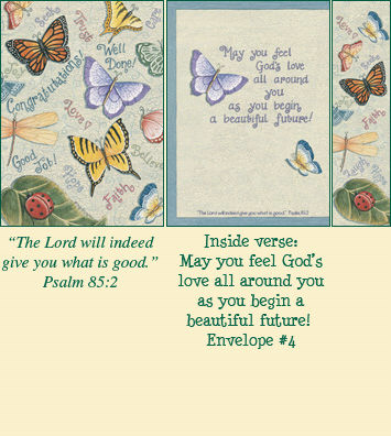 Congratulations Bookmark Card - Butterflies