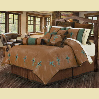 Las Cruces Embroidered Bed Set