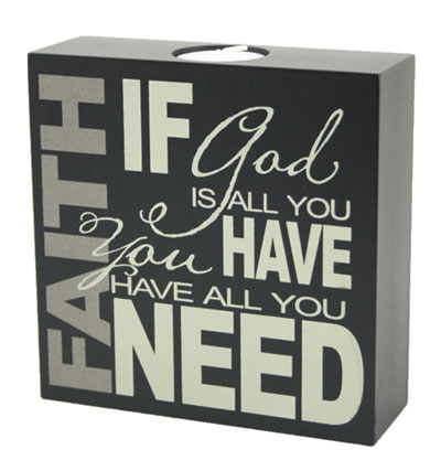 6x6 Studio Candle - FAITH