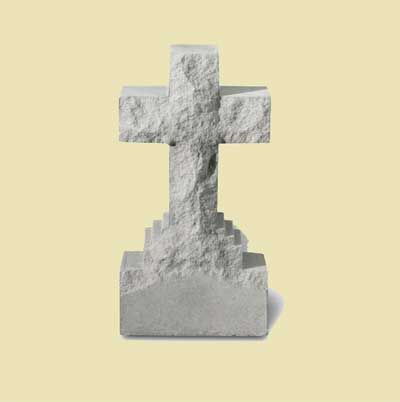 "15"" Cross Statue on Base"