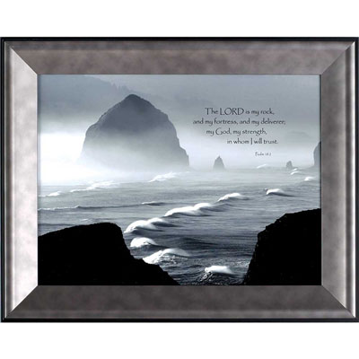I Will Trust the Lord - Framed Christian Wall Art