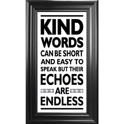 Kind Words... Framed Glass Decor