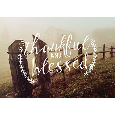 Photo Light Box Insert - Fence Line Thankful Blessed