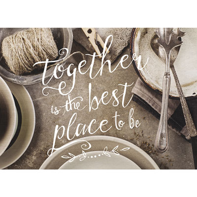 Photo Light Box Insert - Vintage Tableware - Together is the Best Place to Be