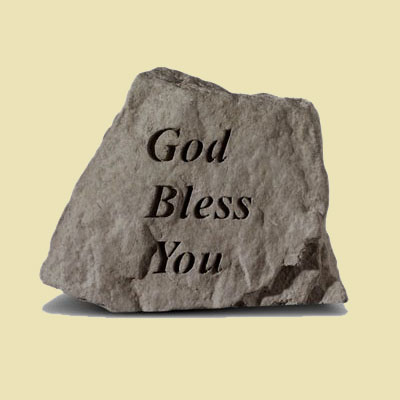 God Bless You Garden Accent Stone
