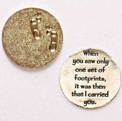 'Footprints in the Sand' Pocket Token