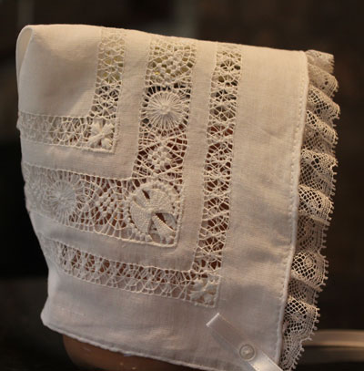 Teneriff Lace Baby Bonnet