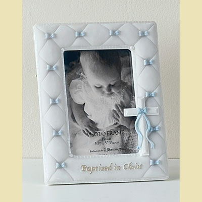 Baptized in Christ Photo Frame - Blue