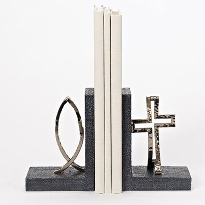 "6.25""H Crossfish Bookends - 2 piece set"