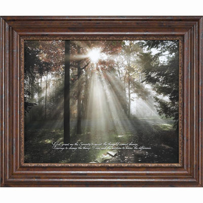 A New Day Framed Christian Wall Art - Serenity Prayer