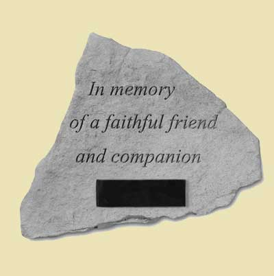 In memory... Loss of pet Garden Memorial Stone