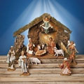 "12 Piece - 6"" Nativity Set with Italian Stable - Fontanini - Limited Edition"