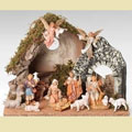 "12 Piece 5"" Nativity Set with Italian Stable - Fontanini"