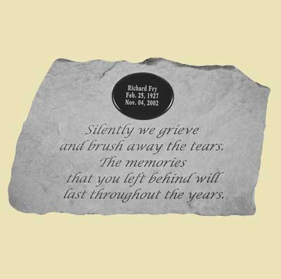 Silently we grieve... Personalized Memorial Stone