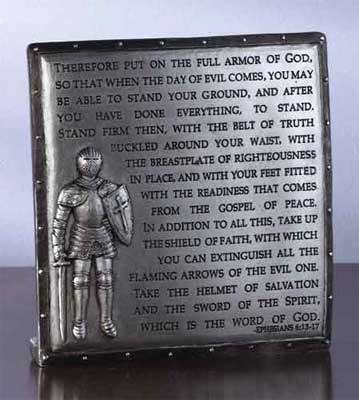 Full Armor of God Desk Plaque