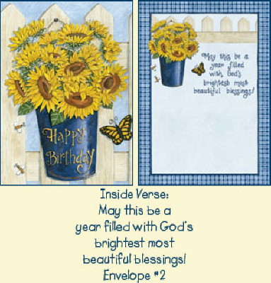 Psalms Birthday Card - Sunflowers