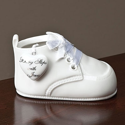 Baby Steps with Jesus Porcelain Baby Bootie