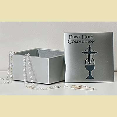 1st Communion Rosary Box