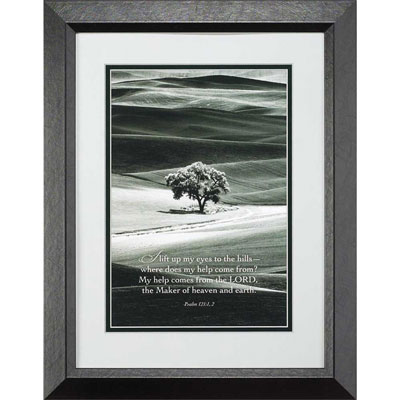 "Psalm 121:1-2 Framed Christian Wall Art 16"" x 20"""