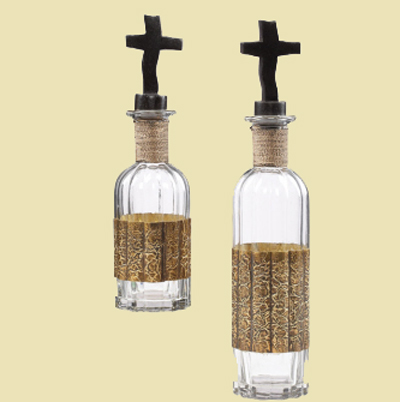 Glass Bottles with Cross Cork