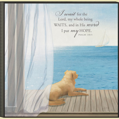 Christian Wall Art - Blue Breeze II - Psalm 130:5
