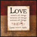 Love - 1 Corinthians 13  - Wooden Wall Plaque