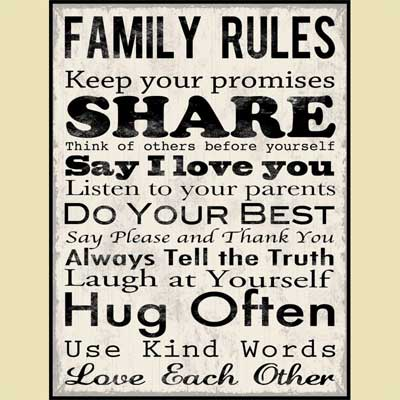Family Rules - Christian Wall Art View Enlarged Image